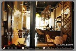 Cloves Restaurant infront Door Entrance view.