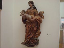 St. Mary with the Child (ca. 1690/1695; Andreas Thamasch) (made of wood)