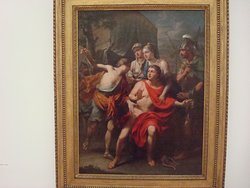 Achilles is informed on Patrokolos death (1783; Martin Knoller) (oil on canvass)