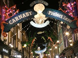 Carnaby Street at Christmas time, 2019