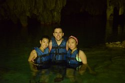 Inside the enclosed Cenote