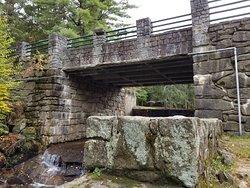 Stone bridge at Damon Pond