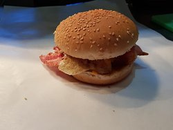 Bacon and Egg Roll - available with medium coffee for $9 everyday!