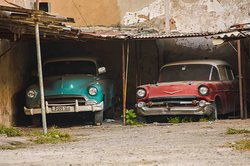 """""""Two good old friends in Old Havana!!!. I took this shoot in a parking car spot located in Empedrado street!!!. I love Cuba!!!"""""""