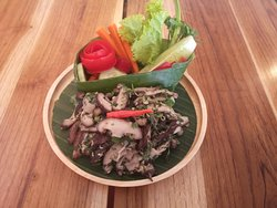 Our Larb mushroom is perfect for vegetarians!!!