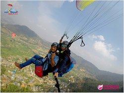 Paragliding in Kathmandu Valley, Nepal