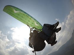 Paragliding near Kathmandu