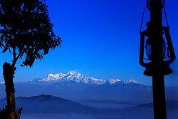 Himalayan view from Shreeban Nature Camp.
