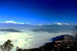 Panoramic Himalayan view from Shreeban.