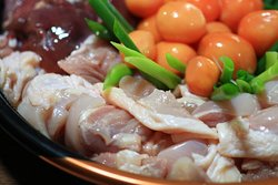 Delicious chicken sukiyaki
