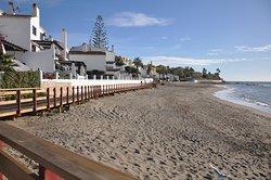 Promenade le long de la plage