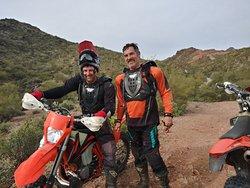 Moto buddies having a memorable day.