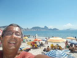 """Near the """"south end"""" of the Beach (with a view to the north including the distant Sugarloaf seen behind me)"""