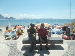 """With the """"statue-on-bench"""" near the south end of the Beach"""
