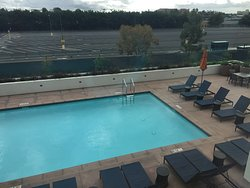 The pool. Key card access by guests.