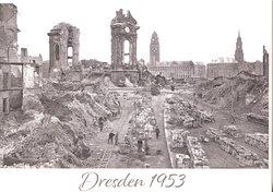 Frauenkirche Dresden - 1953 - Postcard