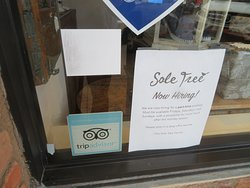 Trip Advisor Sticker in Window at Sole Tree, Paso Robes, CA