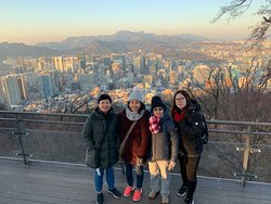 Beautiful view at Seoul N Tower.