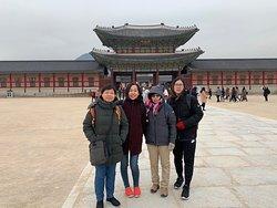 At Gyeongbokgung palace.