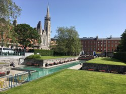 The Old Music Shop Restaurant is located just off Parnell Square Dublin. Pictured is Findlaters Church and the Garden of Remembrance, an easy walk from the restaurant.