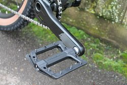 Aftermarket wide flat pedals will give you lots of grip. Make sure you wear a study flat sole shoe.