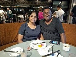 At the Asian Breakfast /Spice Market we had a fabulous breakfast and also treated with a surprise anniversary cake.