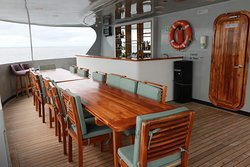 Bar area on second floor stern of M/T Camilla