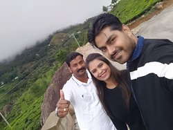 Me, my wife and Jerry, Happy memories in Munnar - Kerala.