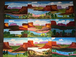 Things to do In Santa Fe? Create your own masterpiece in 2 hours. ...ALL beginner painters here!