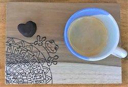 Coffee & homemade chocolate