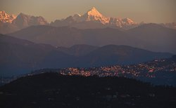 Daybreak in KALIMPONG CITY from hotel