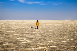 Vast salt lake in Iran