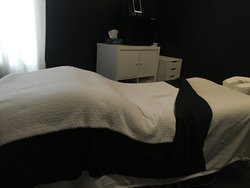 Heated massage table at The Urban Spa