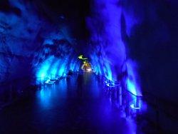 Colourful tunnel in SantaPark
