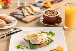 Delicious hot breakfasts available to order