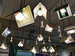 the hanging lamps