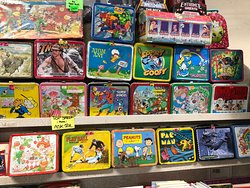 Crazy old lunch boxes, made of real metal!