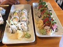Great sushi. Average service