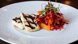 Lunch Menu Starter - Haloumi Salad - Grilled Haloumi cheese, beetroot, orange segments