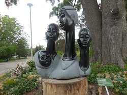 Four generations of a family sculpture