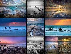 Seascapes --- The Mediterranean holds a rugged and beautiful coastline. We can photograph a Stone arch, Shipwreck, fleeting waterfalls, tidal pools and more. (All photos © Ilan Shacham)