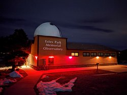 Estes Park Memorial Observatory at Night.  Photo by Lizzy Rodgers