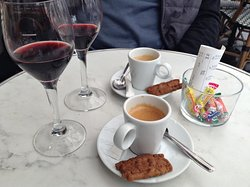 coffees and wine