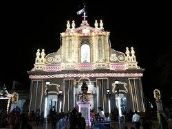 Church illuminated for the Annual Feast