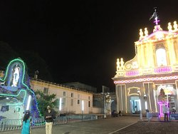 Church premises, along with a Northern wing of the Bishop's House, Illuminated during the Annual Feast