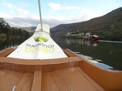 Heading up river on the Douro.