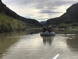 Rio Grande rafting through the State Park.