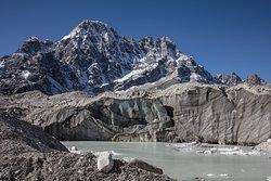 Crossing a melting glacier