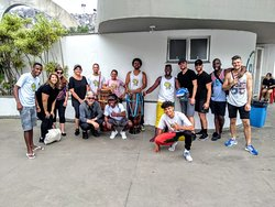 Favela Walk Tour with the Capoeira crew at the end of the tour