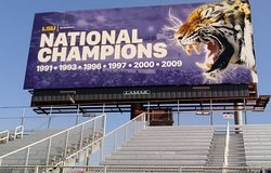 National Champions - Billboard in Right Field